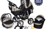 3 In 1 Travel System With Baby Pram Car Seat Pushchair